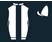 White, black stripe and sleeves, quartered cap}