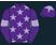 Purple & Lilac Racing-Spotted Dog P'ship silks